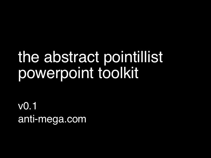 the abstract pointillist powerpoint toolkit
