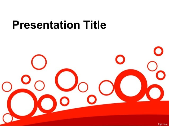 Abstract Powerpoint Design: Free PowerPoint Template with Red Art Cir ...