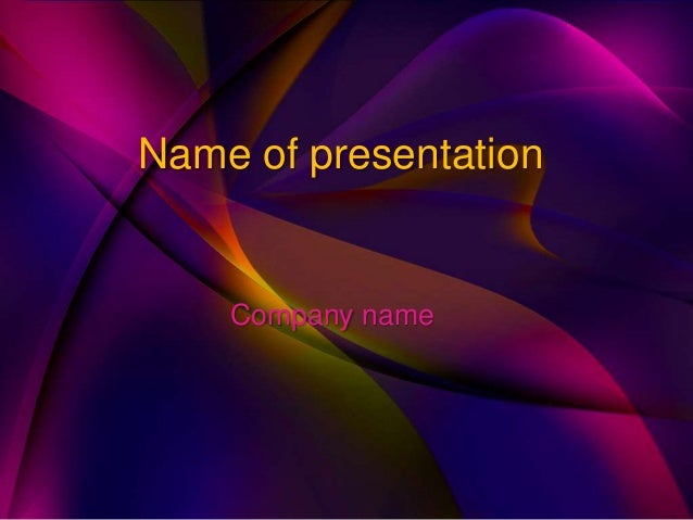 Name of presentation Company name