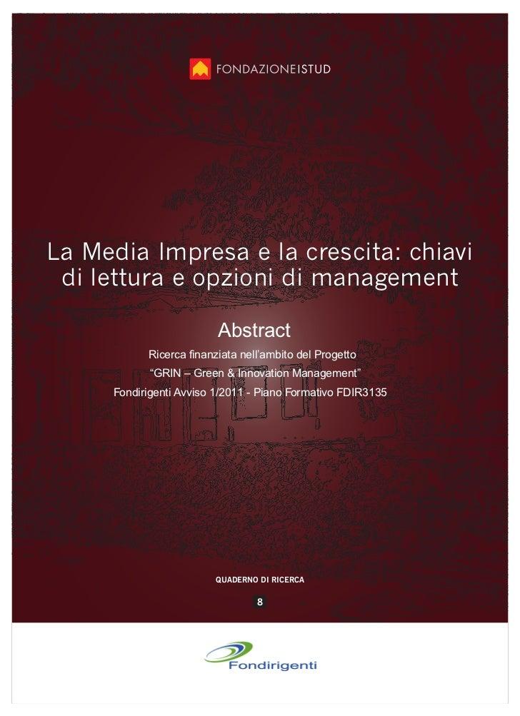 La Media Impresa e la crescita: chiavi di lettura e opzioni di management