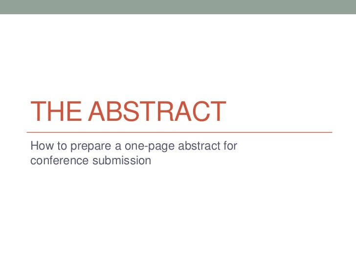 what is an abstract page in a research paper How to write an abstract for your thesis or dissertation an email announcing your research presentation will to one double-spaced page.