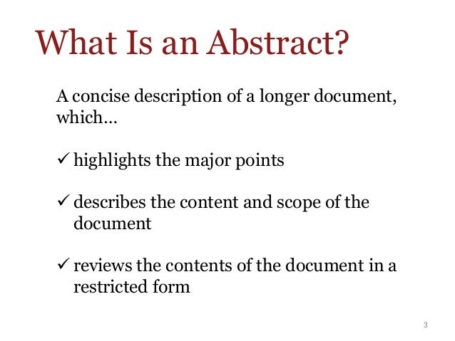how to write an abstract in essays