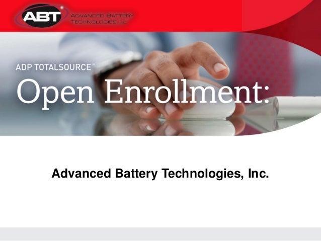 ABT Open Enrollment, spring 2013