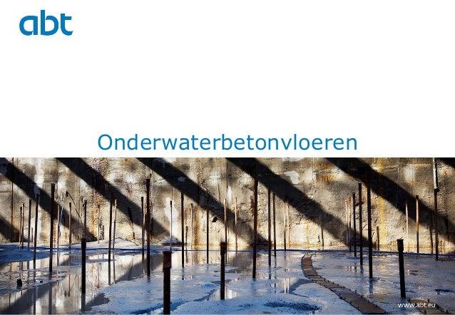 Onderwaterbetonvloeren