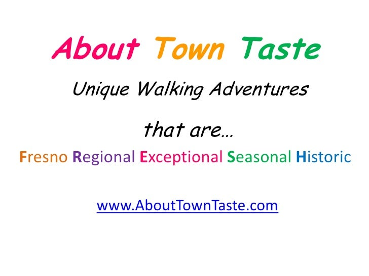 Intro to About Town Taste