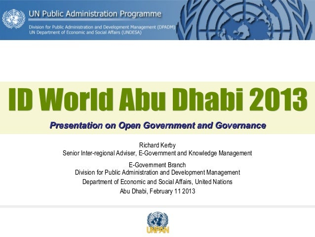 Abu dhabi id world 2013 - citizen approach to ID cards
