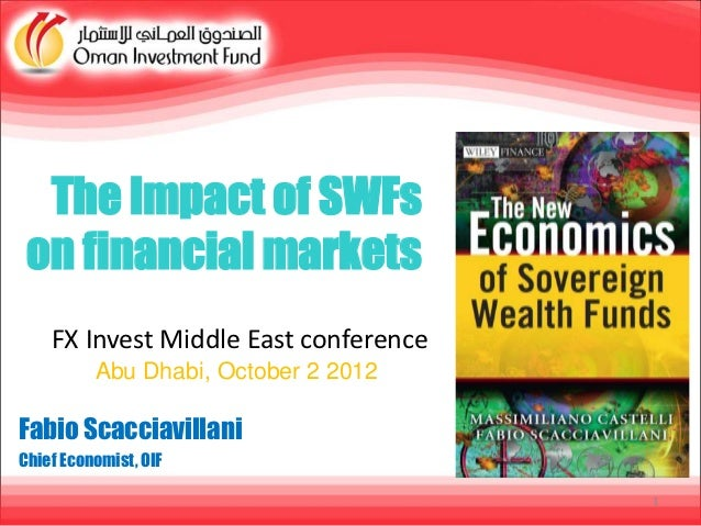 The Impact of SWFs on financial markets    FX Invest Middle East conference          Abu Dhabi, October 2 2012Fabio Scacci...