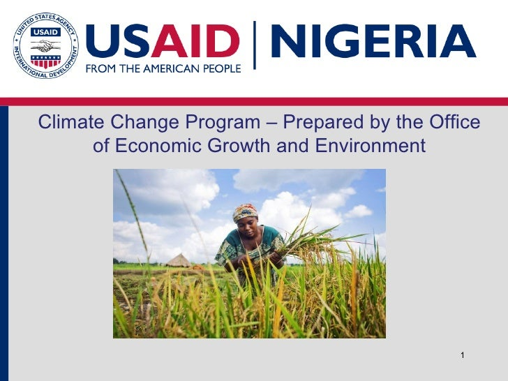 Climate Change Program – Prepared by the Office of Economic Growth and Environment