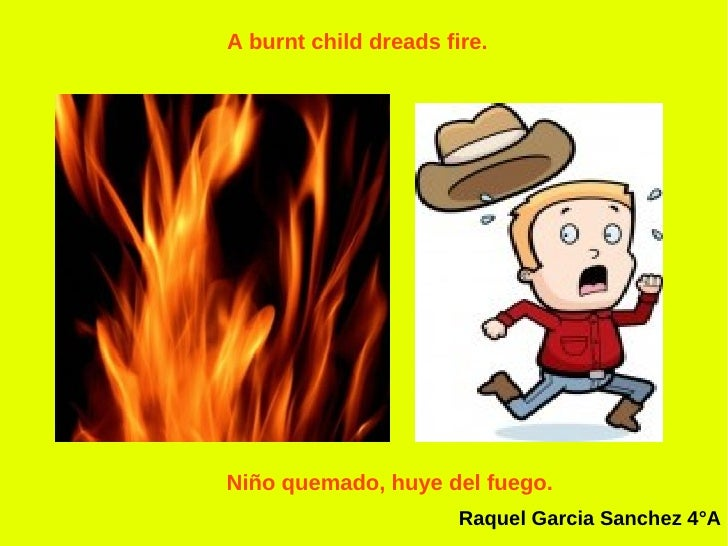 a burnt child dreads the fire essay