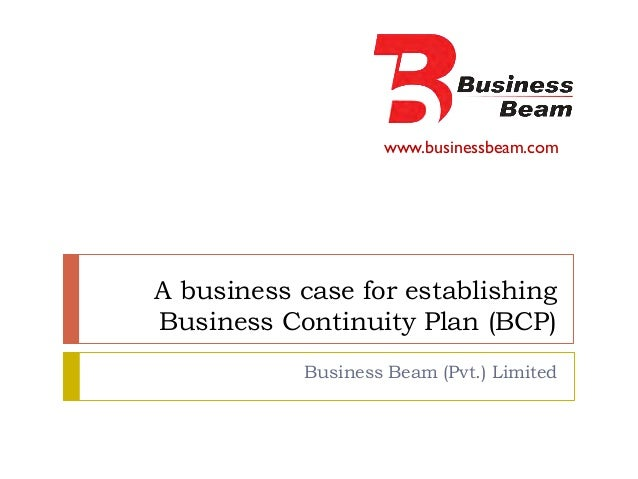 A Business Case for Establishing BCP
