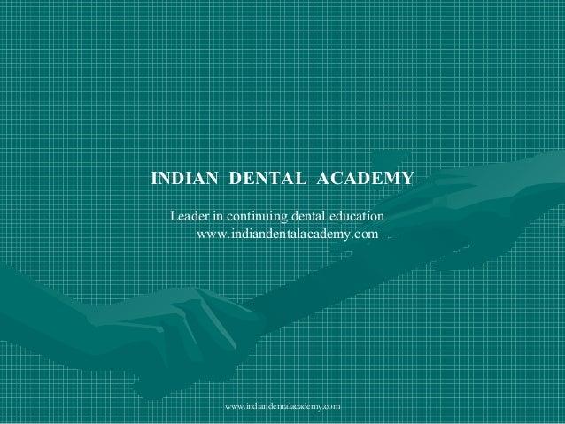 Abutmnt evaluation /orthodontics courses in india