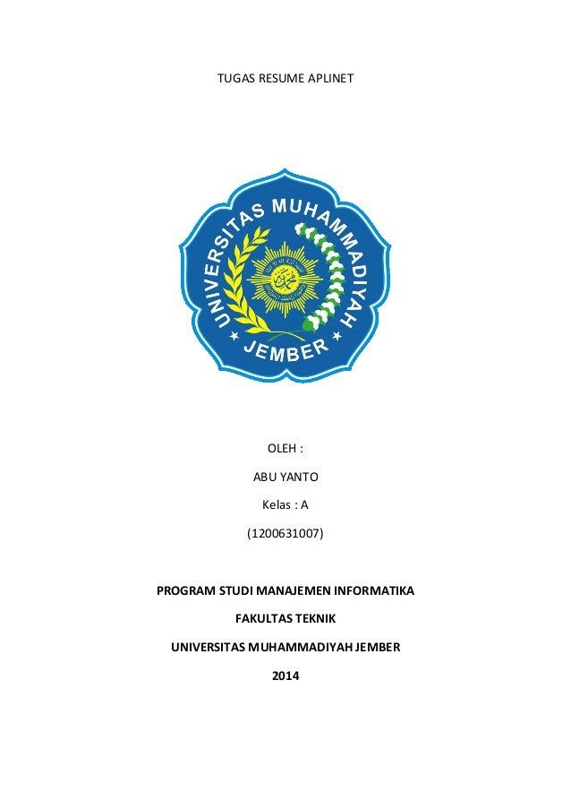 Abu yanto tugas resume aplinet