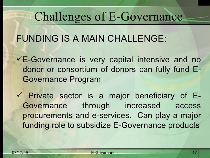 "e governance in bangladesh problems and prospects And challenges"" electronic journal of e-government volume 9 issue 1 2011, ( pp15  the study also contributes by identifying prospects for public eservice."