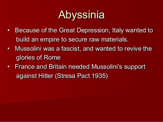 Abyssinia IGCSE History