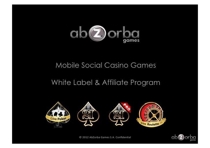 AbZorba Games Casino Affiliate & White Label Program