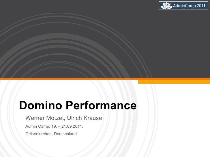 Domino Performance Werner Motzet, Ulrich Krause  Admin Camp, 19. – 21.09.2011,  Gelsenkirchen, Deutschland