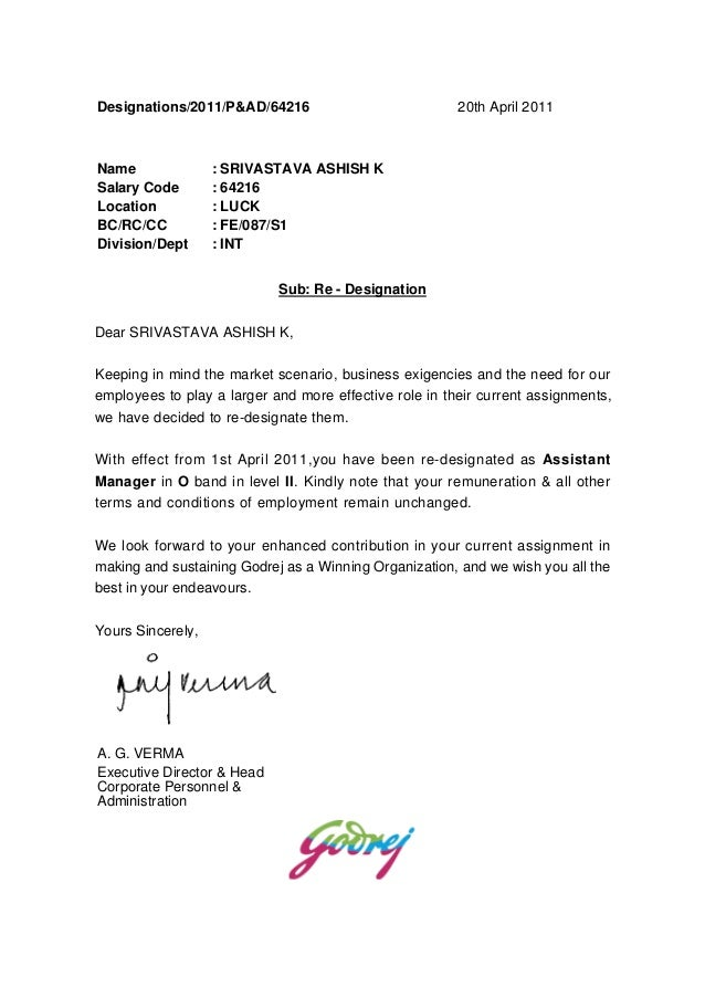 First Class Business Letter