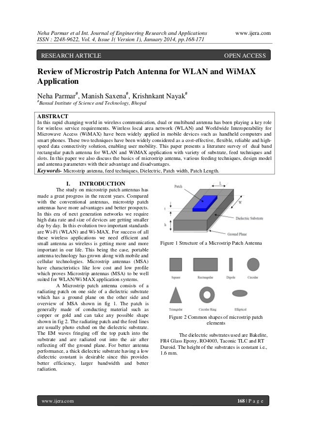 Neha Parmar et al Int. Journal of Engineering Research and Applications ISSN : 2248-9622, Vol. 4, Issue 1( Version 1), Jan...