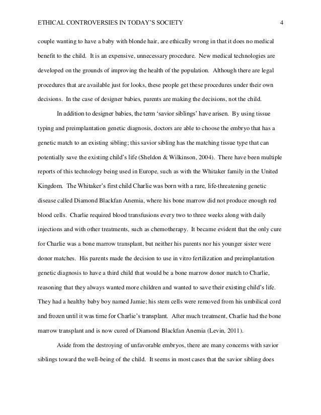 Research paper on ethics