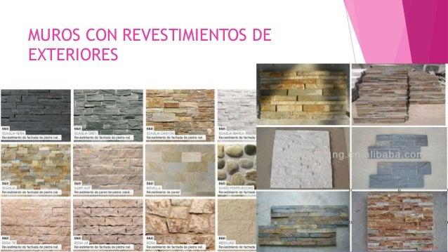 Acabados - Revestimientos de muros exteriores ...