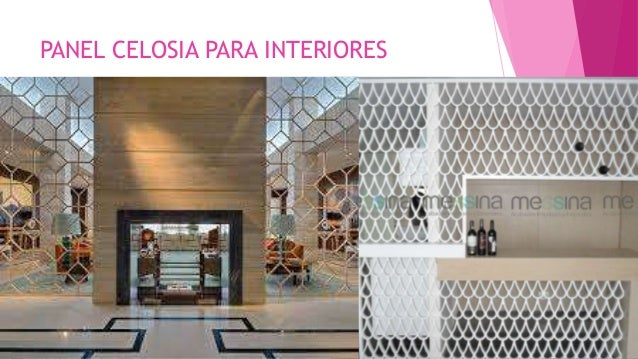 Acabados for Celosias para interiores