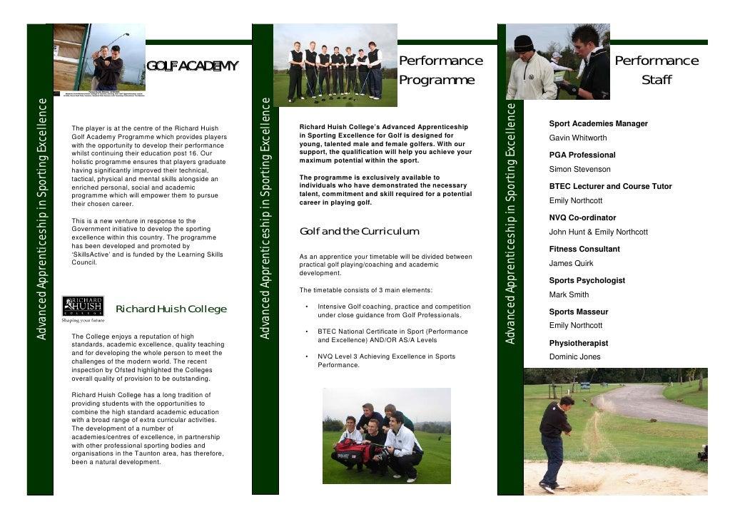 ACAD Golf Leaflet