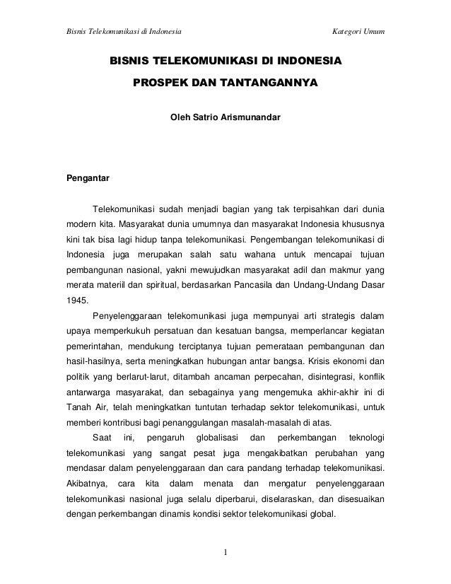 Bisnis Telekomunikasi di Indonesia, Prospek dan Tantangannya
