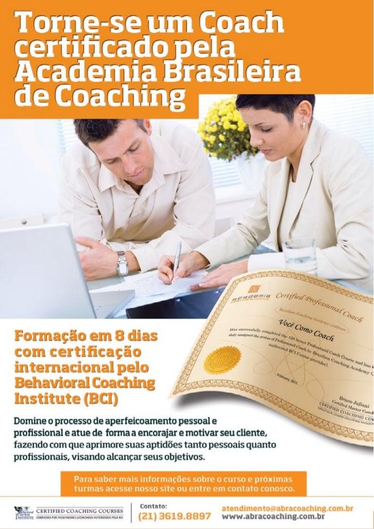 © 2011 - Academia Brasileira de Coaching   17