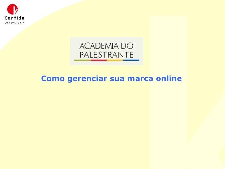 Curso de Marketing Online - Academia do Palestrante