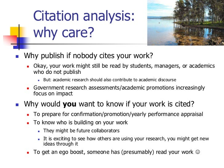 citation analysis of phd thesis
