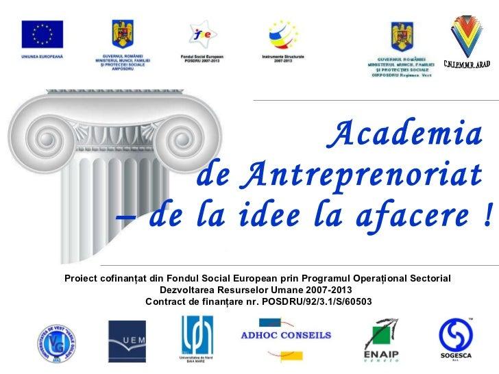 Academia de antreprenoriat