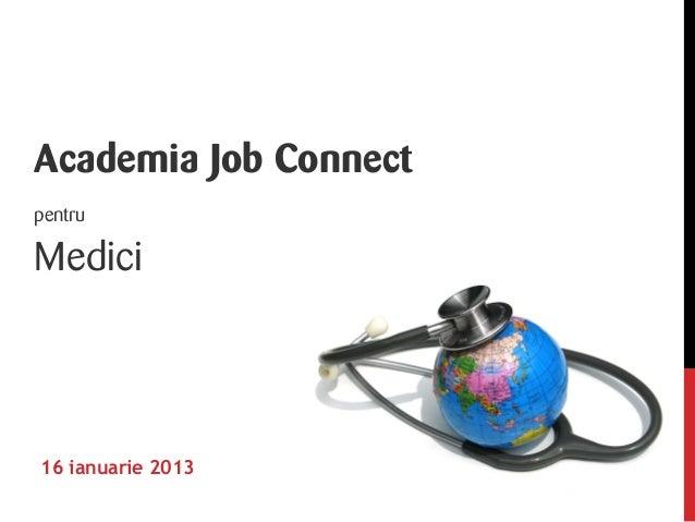 Academia job connect medici 15_01_2013