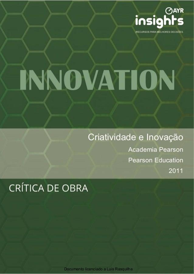 Criatividade Documento              Título do e Inovação                                  Academia Pearson                ...