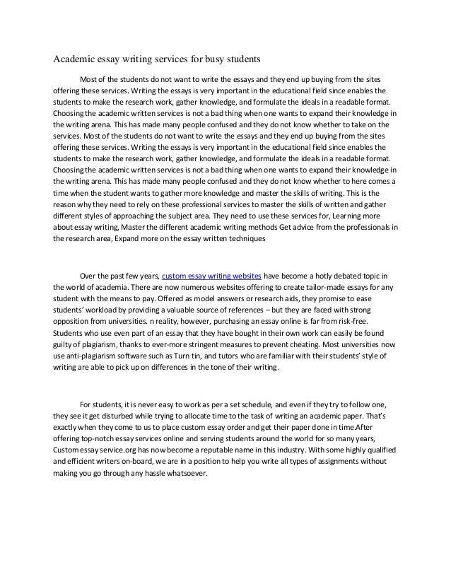 Buy an academic essay