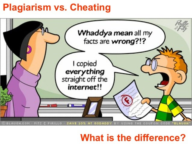 Plagiarism vs. Cheating What is the difference?