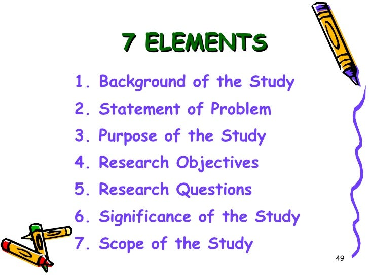 background of the study 3 essay What is the background of the study of this topic- how does the color affects the you can find many research papers on stuttering on the web site for the.