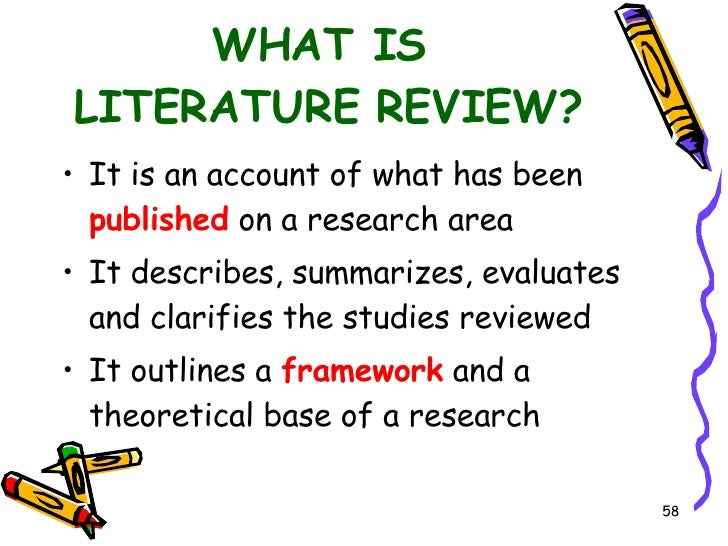 Literature review writing service academic report