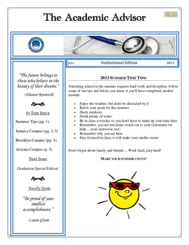 Academic affairs newsletter   june 2013