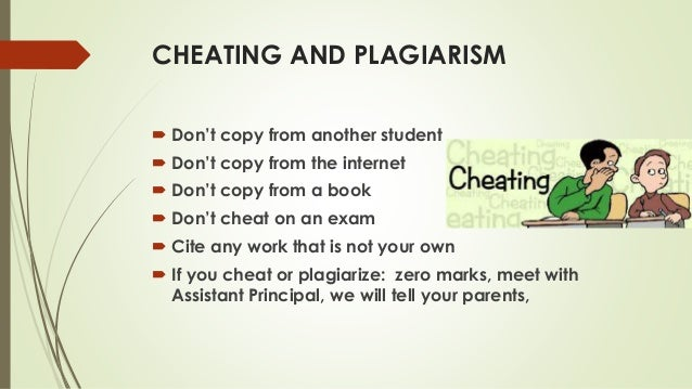 Essays on cheating and plagiarism