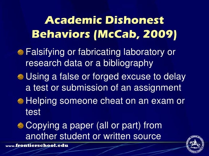 academic dishonesty term papers