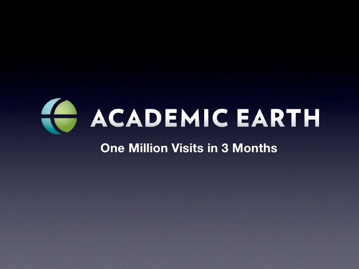 One Million Visits in 3 Months