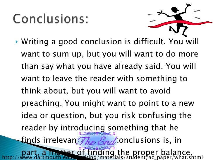 to write the conclusion of an essay