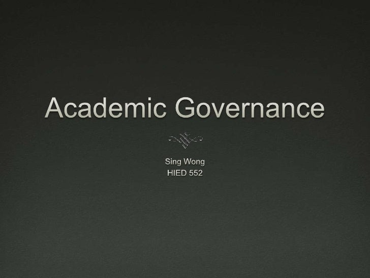 Academic governance 2