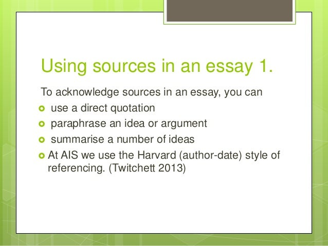 How do you properly cite introduction sources in an essay?