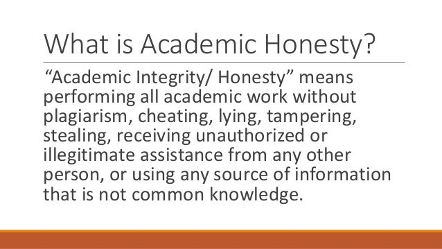 academic dishonesty 6 essay Essay on academic dishonesty: academic dishonesty is any kind of unethical practice relating to academic work as such we understand the fabrication of any kind of academic data, using materials created by other people without due acknowledgement, lying to a teacher about original cause of a person's absence on examine or not complying with an academic deadline, using third party paid or.