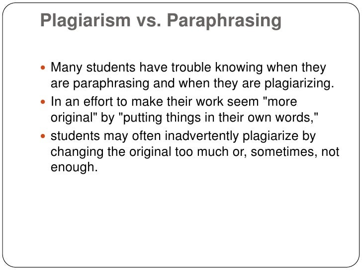 Is paraphrase plagiarism