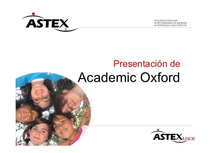 Presentación deAcademic Oxford