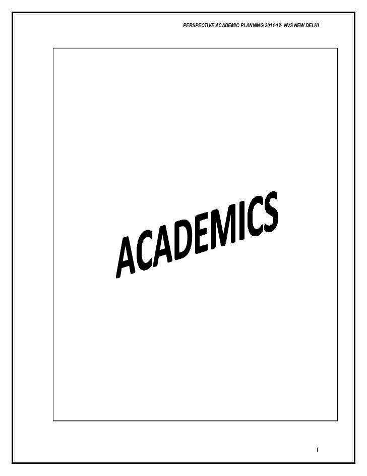 Academic planning2011 12