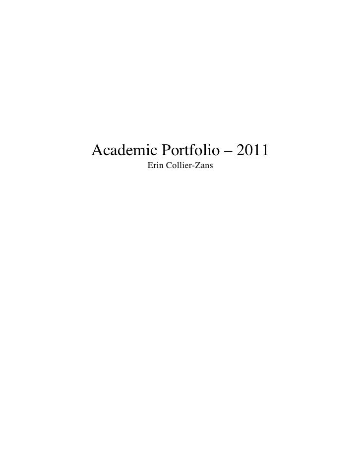 Academic portfiolio : 2011