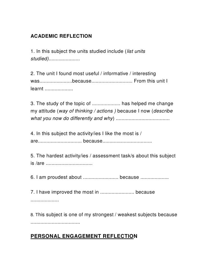 academic reflection How to write a critical reflection academic paper present the points one by one, use statistics, studies and other writing services how to write a critical.